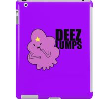 DEEZ LUMPS (Black Text Version) iPad Case/Skin
