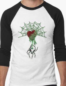 Black Widow (Green) Men's Baseball ¾ T-Shirt