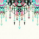 Modern Deco in Pink and Turquoise by micklyn