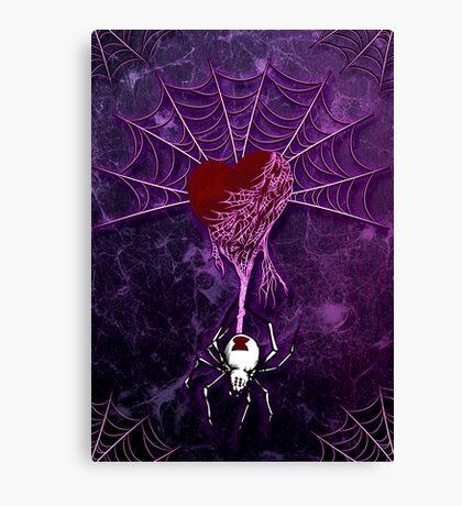 Black Widow (Purple) Canvas Print
