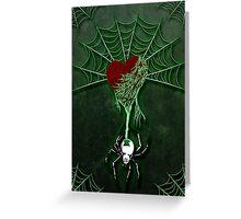 Black Widow (Green) Greeting Card