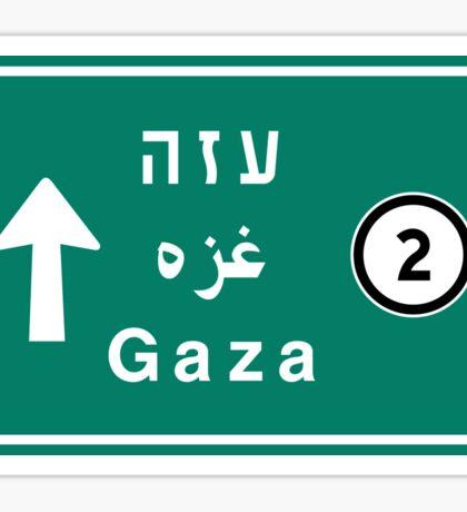 Gaza, Road Sign, Palestine Sticker