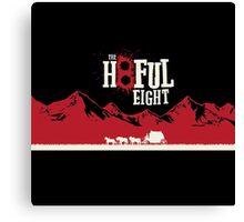 The Hateful Eight 2015 guns logo 5 Canvas Print