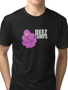 DEEZ LUMPS (White-ish Text Version) Tri-blend T-Shirt
