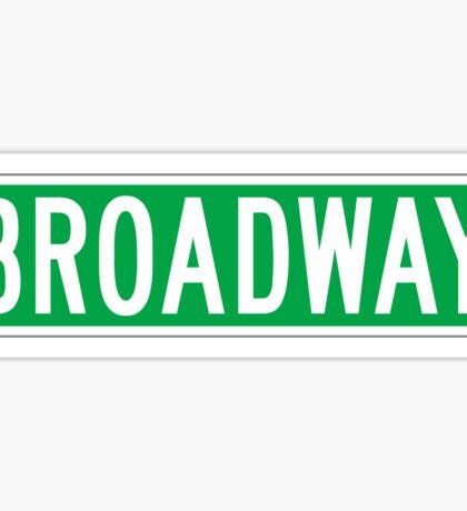 Broadway, New York Street Sign Sticker