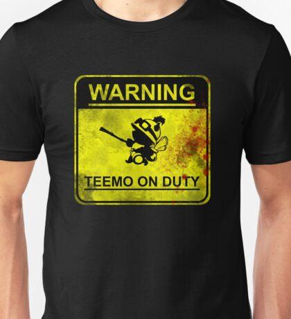 Warning: Teemo On Duty  Unisex T-Shirt