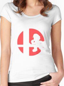 Mario - Super Smash Bros. Women's Fitted Scoop T-Shirt