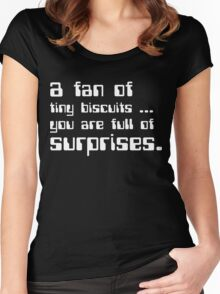a fan of tiny biscuits Women's Fitted Scoop T-Shirt