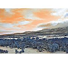 Orange Sky Photographic Print