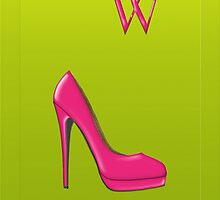 Stylish pink shoe for her, monogram W by Monartcanadian