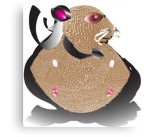 Superhero Hamster Typography Canvas Print