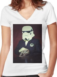 Don Trooper Women's Fitted V-Neck T-Shirt