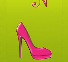 Stylish pink shoe for her, monogram N by Monartcanadian