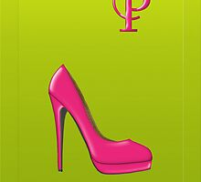 Stylish pink shoe for her, monogram P by Monartcanadian