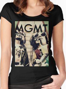 MGMT #4 Women's Fitted Scoop T-Shirt
