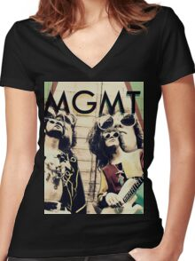 MGMT #4 Women's Fitted V-Neck T-Shirt