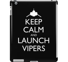 Keep Calm and Launch Vipers (Black) iPad Case/Skin