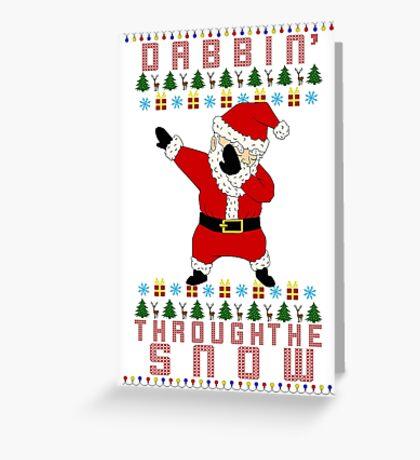 Dabbing Santa Greeting Card