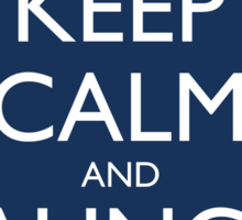Keep Calm and Launch Vipers (Blue) Sticker