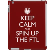 Keep Calm and Spin Up The FTL (Red) iPad Case/Skin