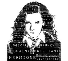 Hermione Word Art Photographic Print