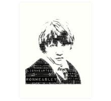 Ron Word Art Art Print