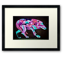 Psychedelic Graffiti art Wolf Framed Print