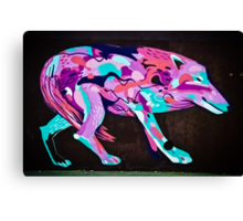 Psychedelic Graffiti art Wolf Canvas Print