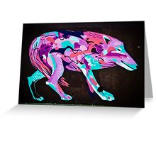 Psychedelic Graffiti art Wolf Greeting Card