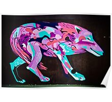 Psychedelic Graffiti art Wolf Poster