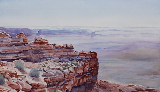 Looking Down From Moki Dugway by JennyArmitage