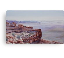 Looking Down From Moki Dugway Canvas Print