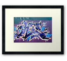 Abstract Graffiti Art fragment  Framed Print