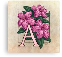 A is for Azalea - full image Canvas Print