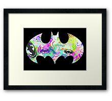 Batman Word Art Framed Print
