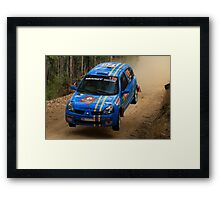 This Is Gonna Hurt - Guy Tyler- FIA World Rally Championship Australia 13.09.2013 Framed Print