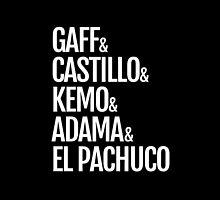 Gaff & Castillo & Kemo & Adama & El Pachuco (black) by olmosperfect