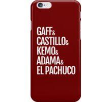Gaff & Castillo & Kemo & Adama & El Pachuco (red) iPhone Case/Skin