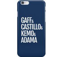 Gaff & Castillo & Kemo & Adama (blue) iPhone Case/Skin