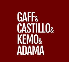 Gaff & Castillo & Kemo & Adama (red) by olmosperfect