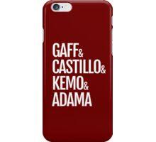 Gaff & Castillo & Kemo & Adama (red) iPhone Case/Skin