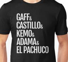 Gaff & Castillo & Kemo & Adama & El Pachuco - Dark Unisex T-Shirt