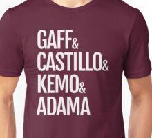 Gaff & Castillo & Kemo & Adama - Dark Unisex T-Shirt