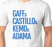 Gaff & Castillo & Kemo & Adama - Blue  Unisex T-Shirt