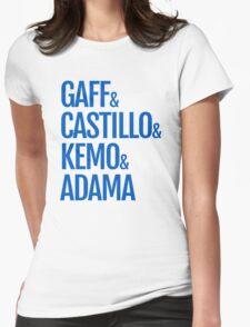 Gaff & Castillo & Kemo & Adama - Blue  Womens Fitted T-Shirt