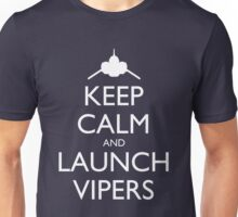 Keep Calm and Launch Vipers - Dark Unisex T-Shirt