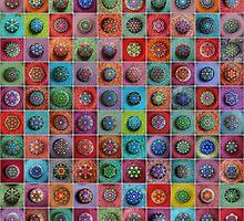 Jewel Drop Mandala Mosaic by Elspeth McLean