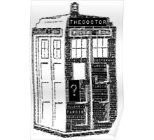 Tardis Word Art Poster