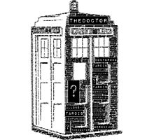 Tardis Word Art Photographic Print