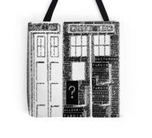 Tardis Word Art Tote Bag